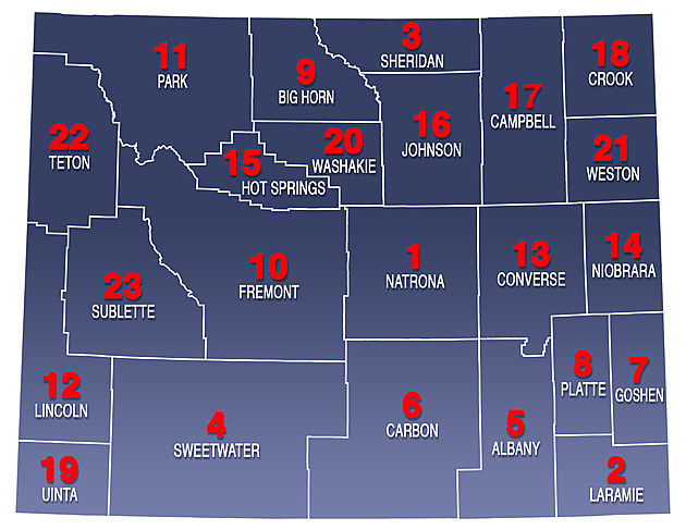 Wyoming County License Plate Codes - Wyoming county maps