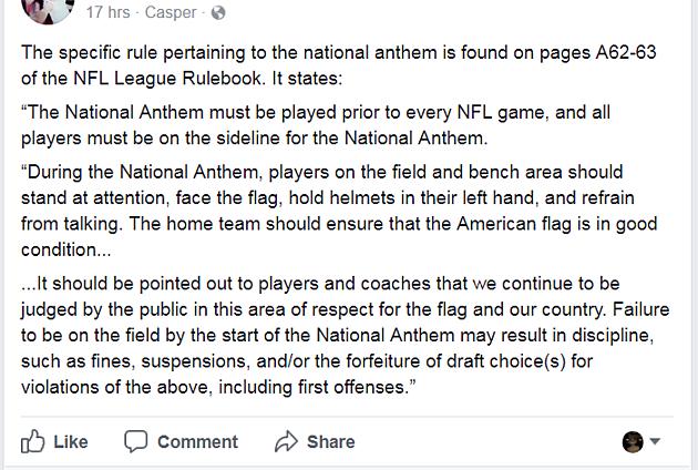 NFL RULE BOOK HOAX